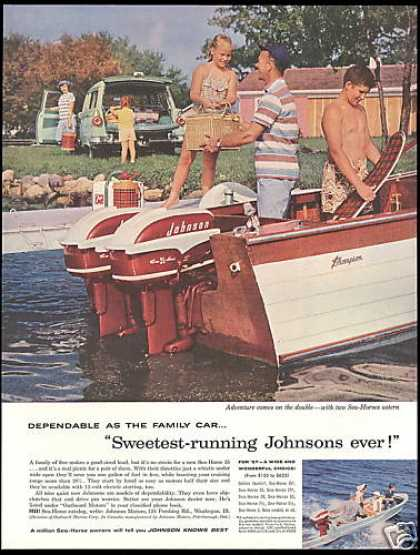 Johnson Outboard Motor Thompson Boat Sea Horse (1957)