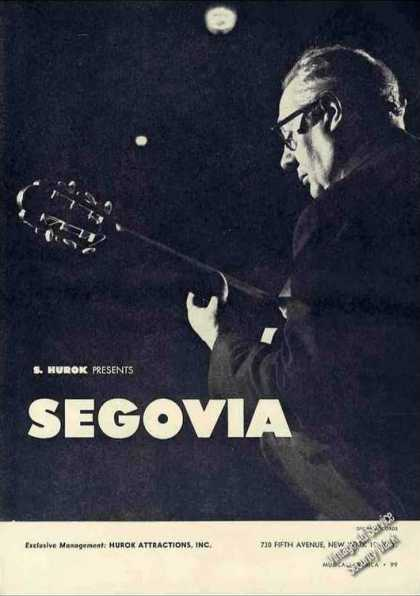 Andres Segovia Photo Guitarist Booking (1962)
