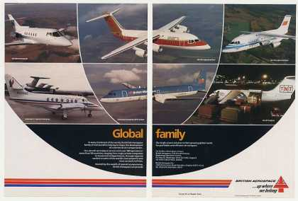 British Aerospace 6 Model Aircraft Photo 2-Page (1987)