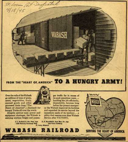 "Wabash Railroad – From the ""Heart of America"" To a Hungry Army (1945)"