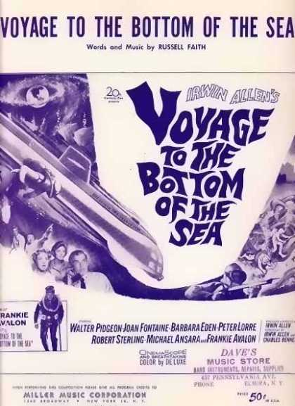 Voyage To The Bottom of The Sea – Frankie Avalon Movie Sheet Music (1961)
