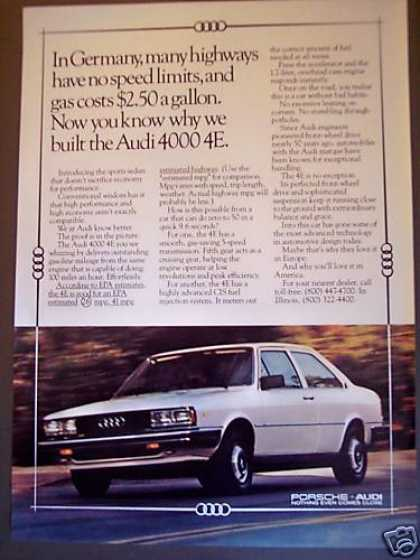 Audi 4000 4e No Speed Limits Car Photo (1980)