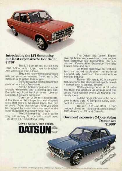 Datsun 1200 2-door/510 Sedan Car (1971)