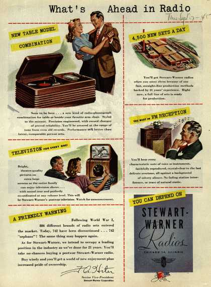 Stewart-Warner Corporation's Various – What's Ahead in Radio (1945)