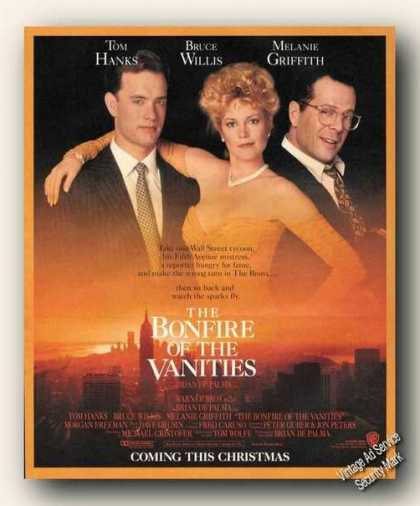 Tom Hanks/bruce Willis Bonfire of the Vanities (1990)