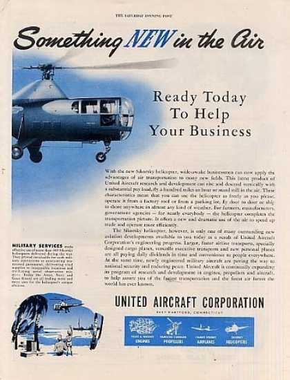 United Aircraft Corporation Ad 2 Page (1946)