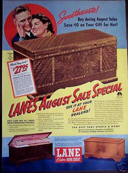 Original Lane Cedar Hope Chest (1939)