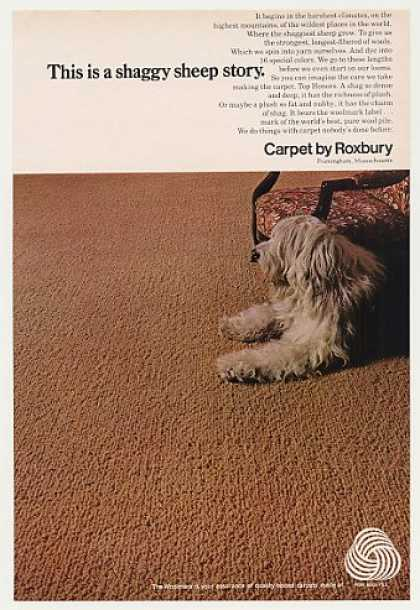 Roxbury Carpet Shaggy Sheepdog Photo (1970)