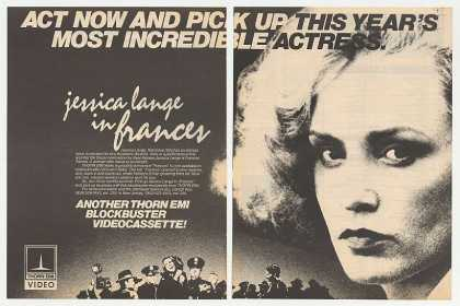 Jessica Lange Frances Video Promo Photo (1983)