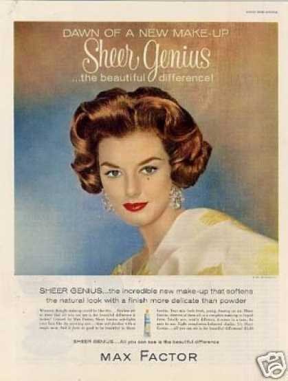 Max Factor Sheer Genius Make-up (1960)