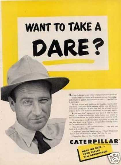 "Caterpillar Ad ""Want To Take a Dare... (1953)"
