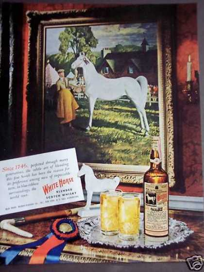 White Horse Scotch Whisky Man W/ Horse (1948)