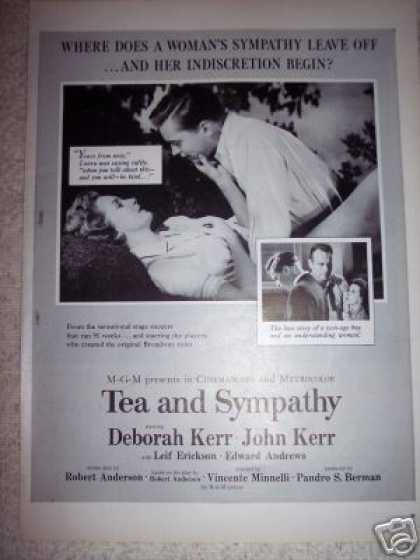 Tea and Sympathy John Kerr Deborah Kerr Movie (1956)