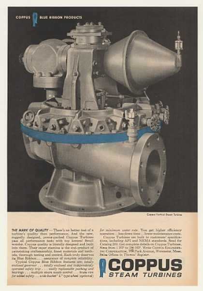 Coppus Vertical Steam Turbine Blue Ribbon (1960)