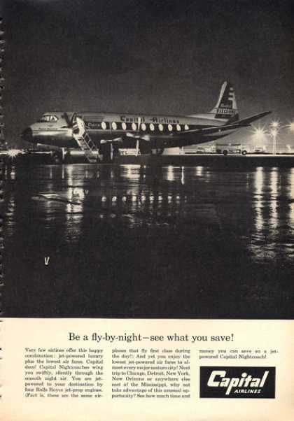 Capital Airlines Nightcoach Jet (1960)