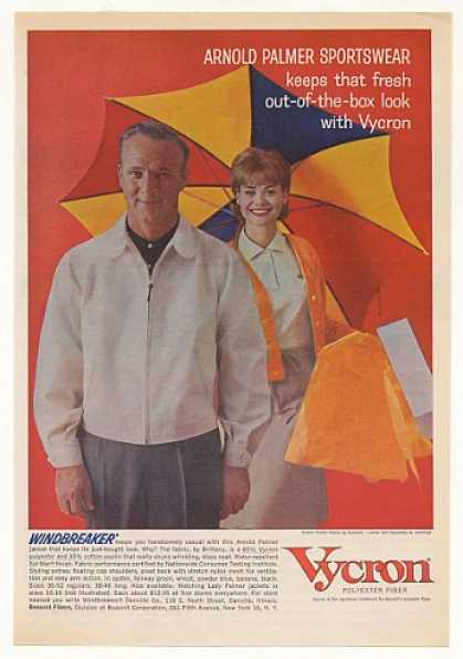 Arnold Palmer Windbreaker Vycron Fiber Photo (1963)