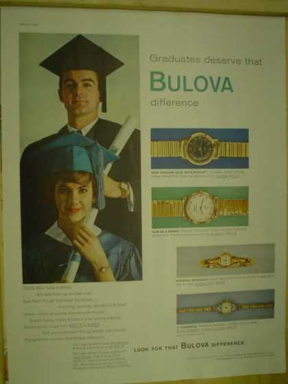 Bulova Watches. Graduates deserve the Bulova Difference (1959)