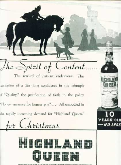 Highland Queen Scotch Whisky the Spirit of Content