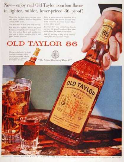 Old Taylor Whiskey (1955)