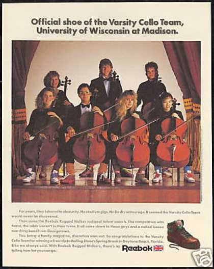 Reebok Shoe Cello Team University of Wisconsin (1989)