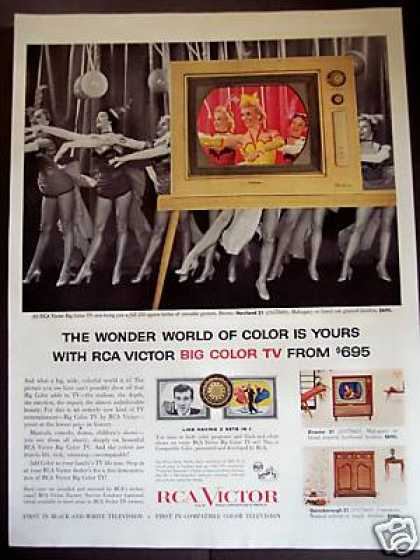 Rca Victor Big Color Tv Television (1956)