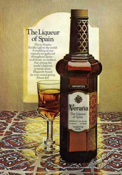 "Verana ""The Liqueur of Spain"" Photo (1972)"