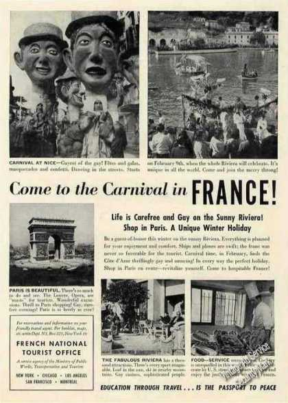 Come To the Carnival In France! Travel (1949)
