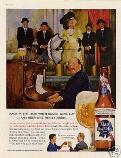 "Pabst Blue Ribbon Beer Ad ""Back In the Days... (1960)"
