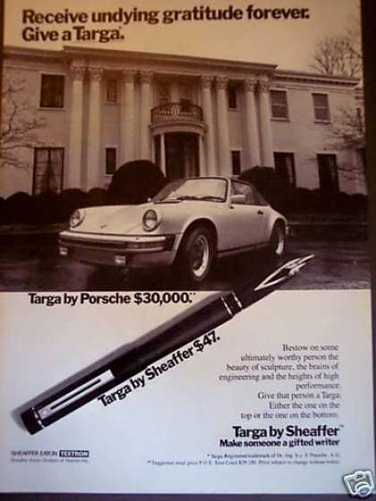 Porsche Targa Photo Sheaffer Targa Pen (1980)