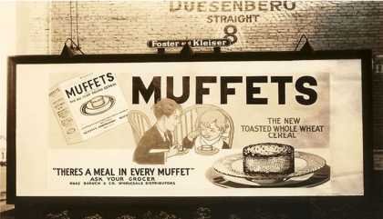 Muffets Cereal Billboard