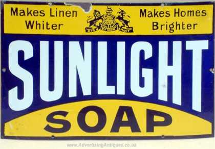 Sunlight Soap Sign – Victorian