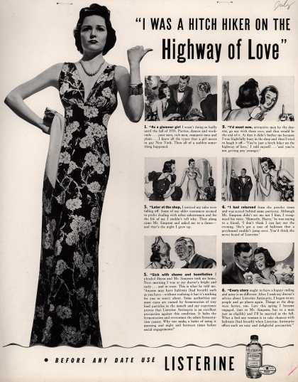 "Lambert Pharmacal Company's Listerine – ""I Was A Hitch Hiker On The Highway of Love"" (1940)"