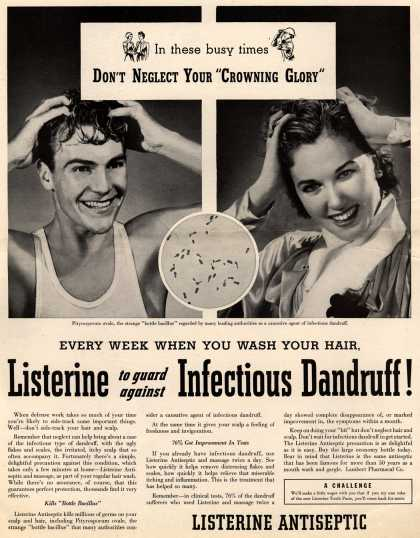 Palmolive Company's Palmolive Soap – True loveliness Demands... Schoolgirl Complexion All Over (1942)