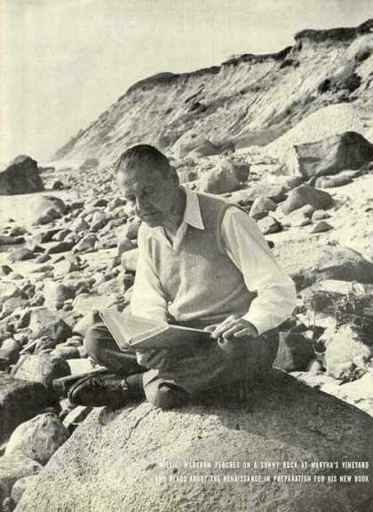 W. Somerset Maugham Marthas Vineyard Magazine Pic (1944)