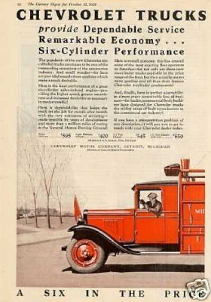 Chevrolet Truck Color Ad 2 Page (1929)