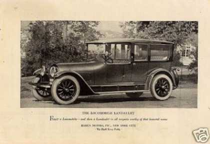 Locomobile Landaulet Car (1922)