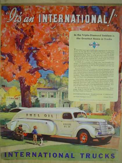 International Trucks Rogers Oil Co (1939)