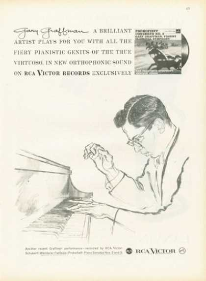 Rca Victor Record Ad Gary Graffman Pianist (1958)
