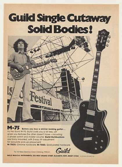 Guild M-75 Single Cutaway Solid Guitar (1974)