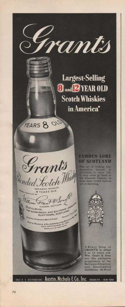 Grants Blended Scotch Whisky (1949)