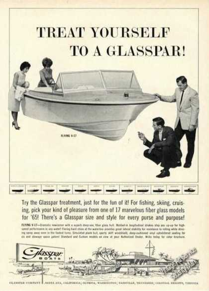 Glasspar Flying V-17 Boat Advertising (1965)