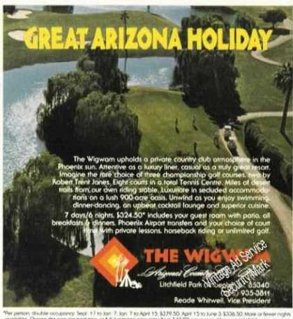 Wigwam Country Club Resort Az Travel Promo (1978)