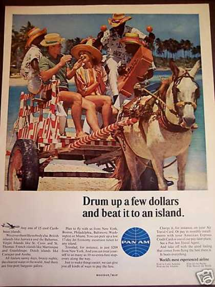 Caribbean Islands Travel Donkey Cart Photo (1965)