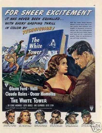 "Movie Ad ""The White Tower"" Glenn Ford (1950)"