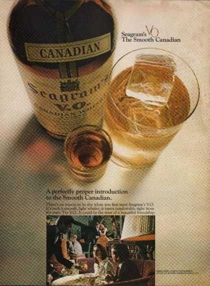 Canadian Seagram Vo Whisky (1969)
