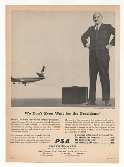 PSA Airlines On Time Don't Wait for President (1963)