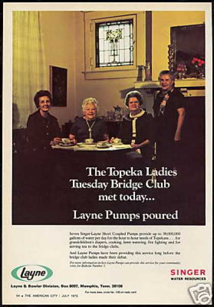 Topeka Kansas Bridge Club Layne Singer Pumps (1973)