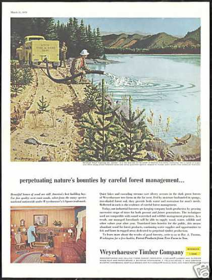 Fish & Game Dept Trout Weyerhaeuser Co (1959)