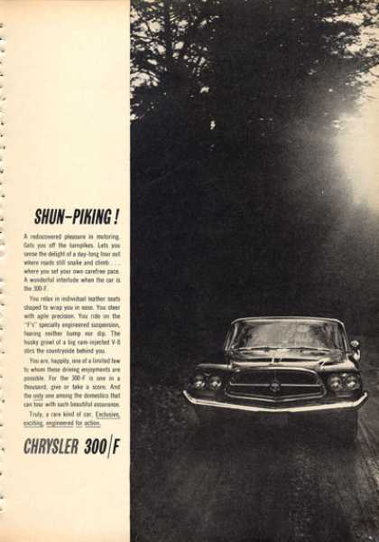 Rare Chrysler 300 /f Race Bred (1960)
