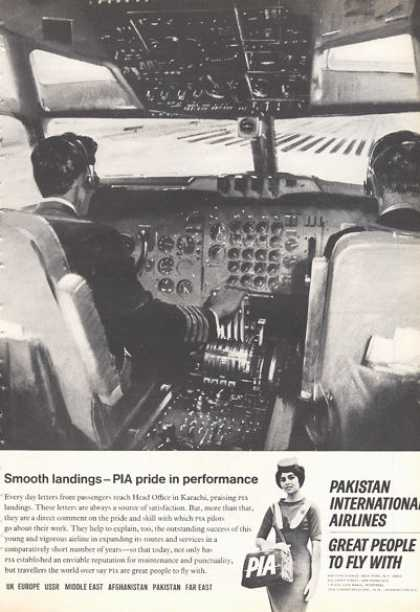 Pakistan International Airlines Cockpit Pilot (1966)